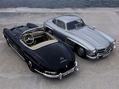 Mercedes-Benz 300SL Gullwing & Roadster...the perfect pair