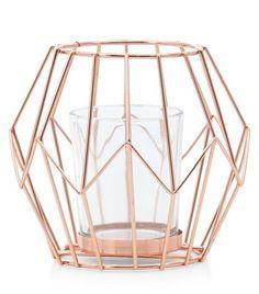 Rose Gold Diamond Frame Lantern