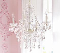 Pottery barn chandelier for kids room