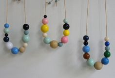 Candy & Wood necklace