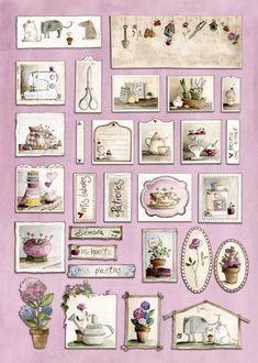 Journal Paper, Decoupage, Gallery Wall, Miniatures, Baby Shower, Scrapbooking, Frame, Tela, Sleeping Loft