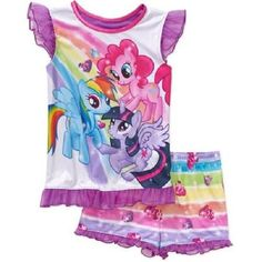 My Little Pony Girls 2pc Pajama Set BNWT Sz 7/8  Super Cute & Comfy!!  #HASBRO #PajamaSet