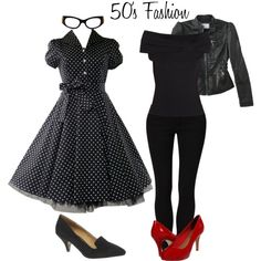 """50's Fashion"" by brightsunshineyoutfits on Polyvore"