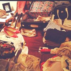 Packing for girls weekend in Vegas.