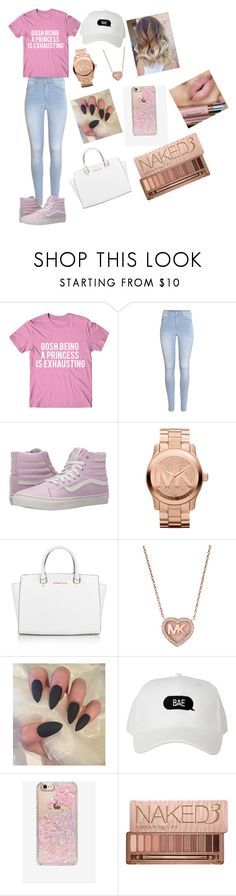 """""""Irl Princess"""" by mxmi-xo ❤ liked on Polyvore featuring H&M, Vans, Michael Kors, Skinnydip and Urban Decay"""