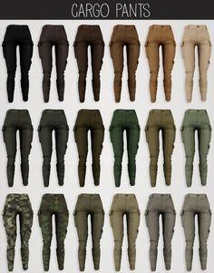 Jungle set safari blouse & cargo pants at Elliesimple