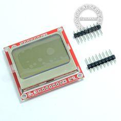 Высокое Качество 84x48 84x84 ЖК-Модуль красной подсветкой адаптер PCB для Nokia 5110 для Arduino