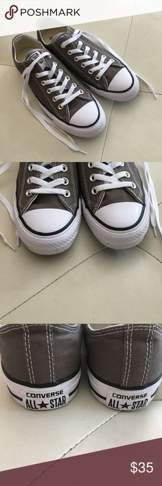 Converse All⭐️Star Chuck Taylor Sneakers - Gray Converse All⭐️Star Chuck Taylor Sneakers - Worn To Try On Only - Gray Converse Shoes Athletic Shoes