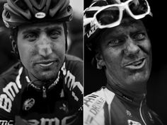 Determination. These boys have it.    Paris Roubaix