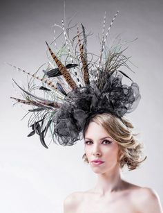 Hey, I found this really awesome Etsy listing at https://www.etsy.com/listing/185074945/oversized-fascinator-black-dramatic