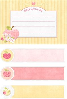 recipe cards-tags etc Printable Labels, Printables, Recipe Books, Card Tags, Recipe Cards, Clipart, Wicca, Stationary, Creations