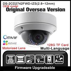 188.80$  Watch here - http://aliknc.worldwells.pw/go.php?t=32752448462 - OEM DS-2CD2742FWD-IZS HIKVISION Original English Version IP Camera Varifocal 4MP POE P2P Onvif IPC Network camera CCTV HIK cam 188.80$