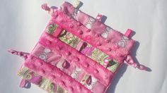 Baby Girl Taggie by BabyBunniesBoutique on Etsy Baby Gifts, Gift Ideas, Trending Outfits, Unique Jewelry, Handmade Gifts, Etsy, Clothes, Vintage, Kid Craft Gifts