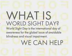 Join a global movement on October 11, 2012 to bring awareness of visual impairment and blindness as a solvable world issue. Speak out for the right to sight... ...and restore so much more than vision. #GIVEsight #TOMS www.TOMS.com/...