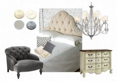Cream and Gray Bedroom | love grey and cream | bedrooms | Pinterest