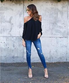 fb4f82fa43 Akery Women s Sexy Spaghetti Strap Off Shoulder Shirt Tops Blouses at Amazon  Women s Clothing store