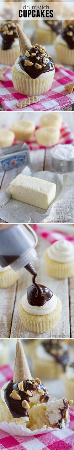 Drumstick Cupcakes: