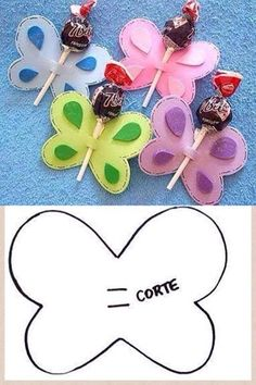 Butterfly lollipop , kids love it !  More #DIY projects: www.wonderfuldiy.com
