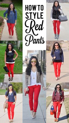 How to style red pants