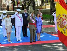 09 June 2014 Spanish Royal Family attended the Armed Forces day at the Plaza de la Lealtad in Madrid