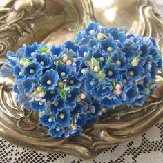2 Bouquets Forget Me Nots Old Fashioned by 32NorthSupplies on Etsy, $4.50
