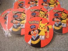 Making Memories ... One Fun Thing After Another: Pokemon Birthday Party - the Goody Bags