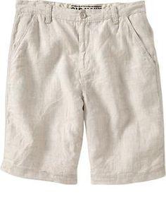 Poseidon Blue Linen Shorts - Men's Linen Shorts | Island Company ...