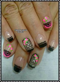 Uñas Fashion, Nail Art, Nails, Beauty, Nail Art Designs, Fingernail Designs, Gold Nail Art, Nail Designs, University