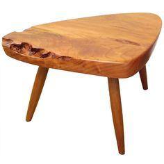 Mira Nakashima Free Edge Cherry Tri-Leg Table