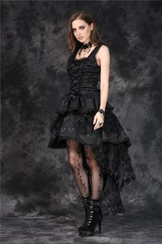Custom made link of DW069 Elegant gothic jacquard fishtail dress with three-dimensional flowers(price is not including petticoat)
