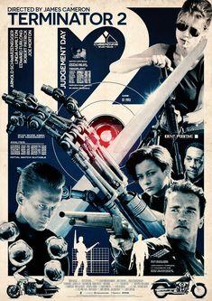 T2 Best Movie Posters, Cinema Posters, Movie Poster Art, Sci Fi Movies, Good Movies, Man In Black, Terminator Movies, Film Poster Design, Cinema Tv