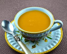Carrot and Ginger Soup. Photo by May I Have That Recipe