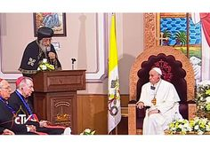 Pope Francis meets with Coptic Pope Tawadros II, calling for closer cooperation between the two Churches - RV