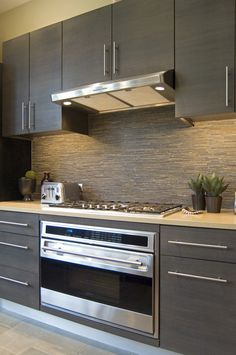 Glamorous Slate Backsplash Home Remodeling Modern Kitchen Philadelphia Home  Insurance Butcher Block Countertop Dark Cabinets Glass