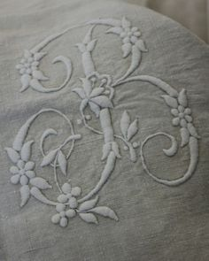 embroidered B