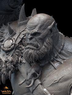 Orgrim Doomhammer 1:10 Scale Sculpture by HazardousArts on DeviantArt