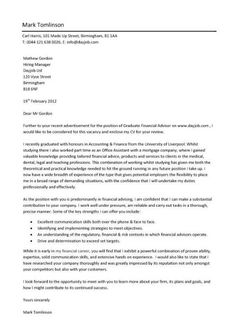 always use a convincing covering letter with your cv when applying for a graduate vacancy - A Cover Letter For Resume