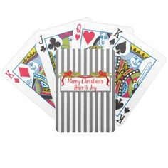 CHIC PLAYING CARDS_CHRISTMAS GREETINGS BICYCLE PLAYING CARDS - #chic gifts diy elegant gift ideas personalize