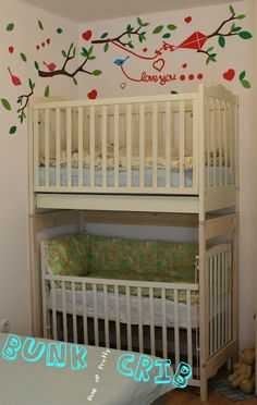 Small Nursery For Two On Pinterest Toddler Bunk Beds