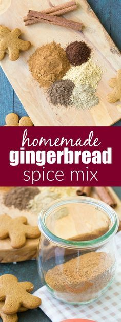 Add this homemade gingerbread spice mix to pancakes, waffles, breads, coffee, cookies and more! This recipe is easy to make with just a few ingredients. One of our favorite recipes for Christmas and holiday baking! Homemade Spices, Homemade Seasonings, Holiday Baking, Christmas Baking, Christmas Cakes, Cozy Christmas, Coffee Ingredients, Curry, Spice Mixes