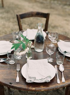 French Village Wedding Ideas | Simple Wedding Ideas | Wedding Ideas  - this is simply charming....what a great way to keep it simple and authentic, yet so lovely