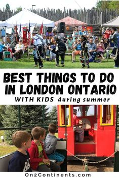 Discover the top fun summer activities for families in London, Ontario. #ldn #ldngem #londonON #ldnont #londonontario #canada #on2continents #travelblog #thingstodowithkids #ontario #summer #funactivities Adventure Farm, Adventure Travel, Travel With Kids, Family Travel, Storybook Gardens, Outdoor Summer Activities, Family Vacation Destinations, Things To Do In London, Canada Travel