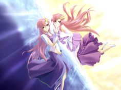 Lacus Clyne & Meer Campbell Gundam Seed, Picture Search, Manga Pictures, Manga Games, Manga Anime, Wallpaper, Gallery, Fictional Characters, Siblings
