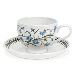 Portmeirion Botanical Garden Assorted Traditional Teacups and Saucers - Set of 6 - 60820