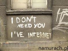 Internet najważniejszy - graffiti Katowice #internet #graffiti #Katowice