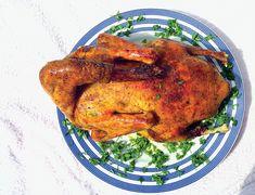Raţă umplută - Retete culinare - Romanesti si din Bucataria internationala Tandoori Chicken, Turkey, Meat, Ethnic Recipes, Food, Turkey Country, Essen, Meals, Yemek