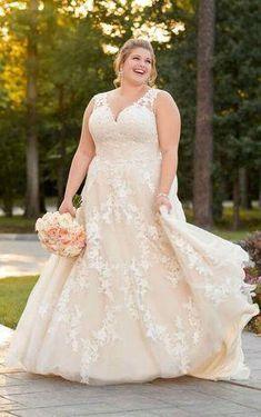 29c8b284a9a 6649+ Plus Size A-Line Wedding Dress by Stella York Off White Wedding  Dresses