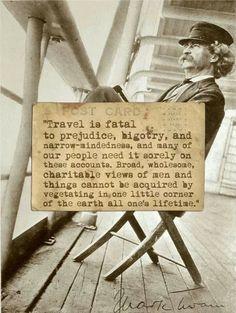 Travel is fatal to prejudice