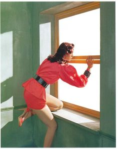 Mariacarla Boscono in Edward Hopper's Morning Sun by Javier Vallhonrat for Flair