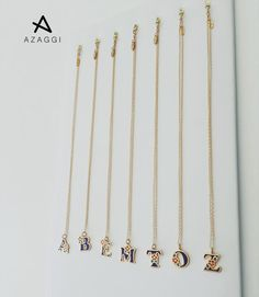 Make a simple statement and let your personality shine with a timeless personalized piece ✨ #azaggijewelry  #InitialLetters #pendant #necklace #personalizedjewelry #sparkle ✨💎